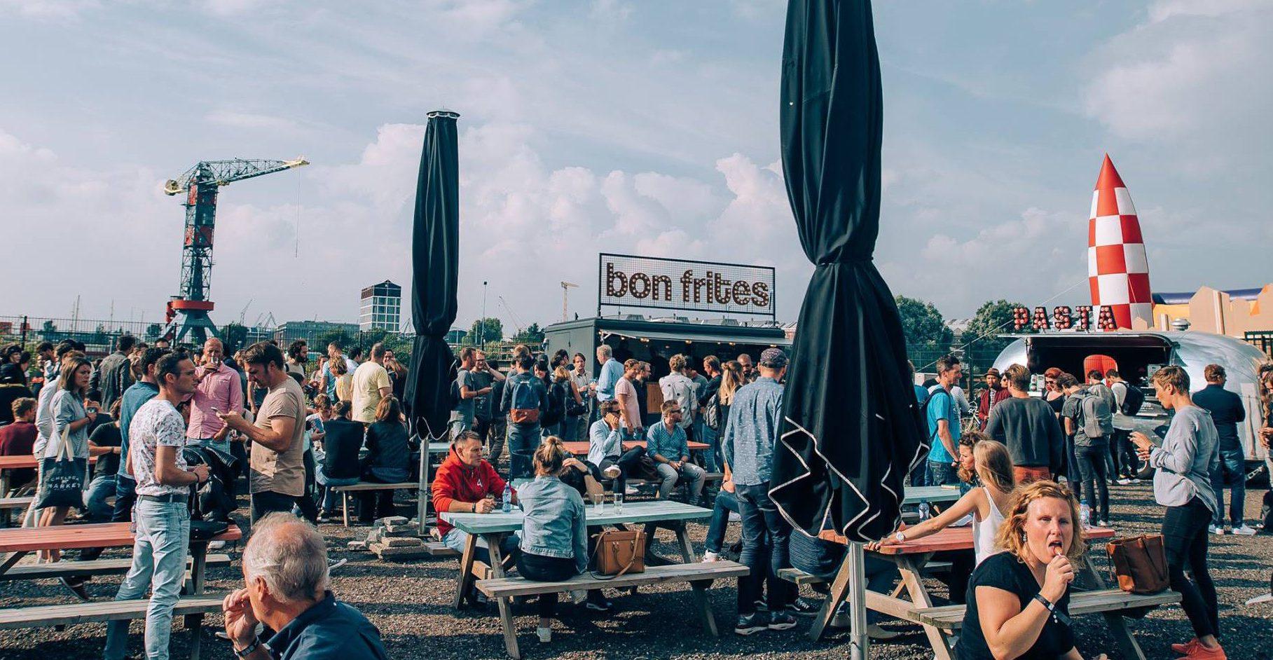 bedrijfsfestival met foodtrucks